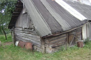 House in Belarus.  Courtesy of the Survivor Mitzvah Project